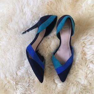 Zara Trafaluc color block heels